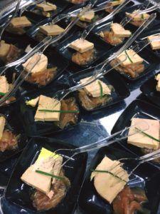 Coupelle de foie gras pour cocktail dinatoire