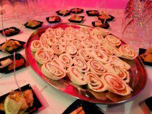cocktail dinatoire : wraps au saumon